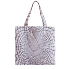 Points Circle Dove Harmony Pattern Zipper Grocery Tote Bag by Nexatart