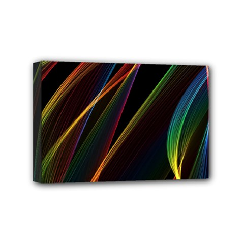 Rainbow Ribbons Mini Canvas 6  X 4  by Nexatart