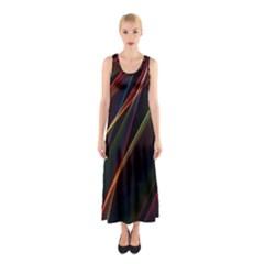 Rainbow Ribbons Sleeveless Maxi Dress by Nexatart