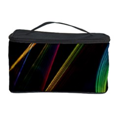 Rainbow Ribbons Cosmetic Storage Case by Nexatart
