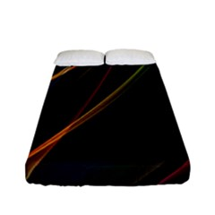 Rainbow Ribbons Fitted Sheet (full/ Double Size) by Nexatart
