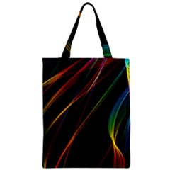 Rainbow Ribbons Zipper Classic Tote Bag by Nexatart