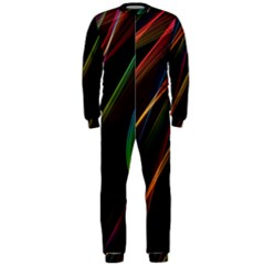 Rainbow Ribbons Onepiece Jumpsuit (men)  by Nexatart