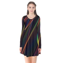 Rainbow Ribbons Flare Dress by Nexatart