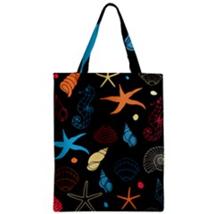 Seahorse Starfish Seashell Shell Zipper Classic Tote Bag by Nexatart