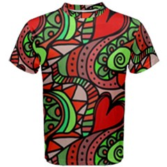Seamless Tile Background Abstract Men s Cotton Tee