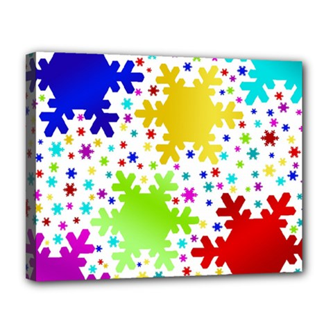 Seamless Snowflake Pattern Canvas 14  X 11  by Nexatart