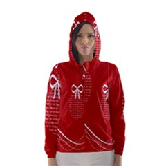 Simple Merry Christmas Hooded Wind Breaker (women) by Nexatart