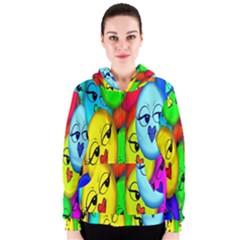 Smiley Girl Lesbian Community Women s Zipper Hoodie