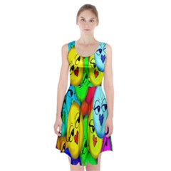 Smiley Girl Lesbian Community Racerback Midi Dress by Nexatart