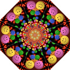 Smiley Laugh Funny Cheerful Hook Handle Umbrellas (medium) by Nexatart