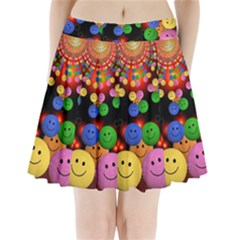 Smiley Laugh Funny Cheerful Pleated Mini Skirt by Nexatart