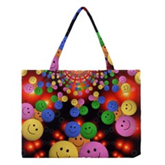 Smiley Laugh Funny Cheerful Medium Tote Bag by Nexatart