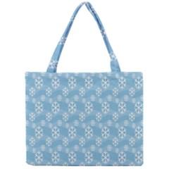 Snowflakes Winter Christmas Mini Tote Bag by Nexatart