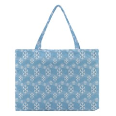 Snowflakes Winter Christmas Medium Tote Bag by Nexatart