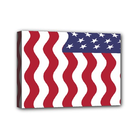 American Flag Mini Canvas 7  X 5  by OneStopGiftShop