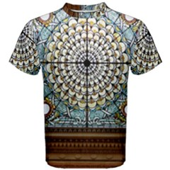 Stained Glass Window Library Of Congress Men s Cotton Tee by Nexatart