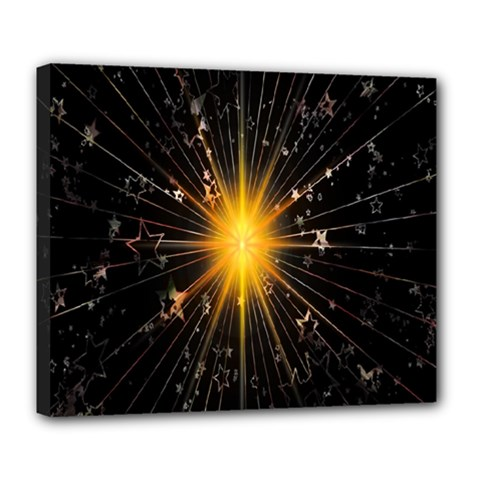 Star Christmas Advent Decoration Deluxe Canvas 24  X 20   by Nexatart