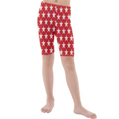 Star Christmas Advent Structure Kids  Mid Length Swim Shorts