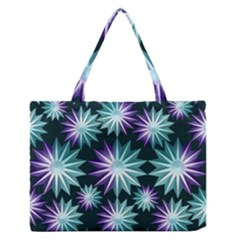 Stars Pattern Christmas Background Seamless Medium Zipper Tote Bag by Nexatart