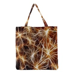 Star Golden Christmas Connection Grocery Tote Bag by Nexatart