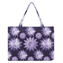 Stars Patterns Christmas Background Seamless Medium Zipper Tote Bag by Nexatart