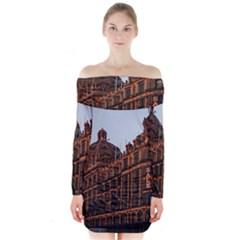 Store Harrods London Long Sleeve Off Shoulder Dress by Nexatart