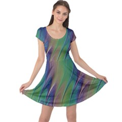 Texture Abstract Background Cap Sleeve Dresses by Nexatart