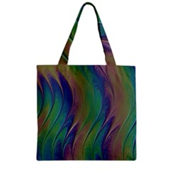 Texture Abstract Background Zipper Grocery Tote Bag by Nexatart
