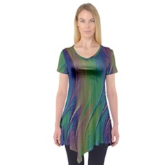 Texture Abstract Background Short Sleeve Tunic  by Nexatart
