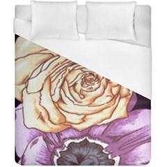 Texture Flower Pattern Fabric Design Duvet Cover (california King Size)