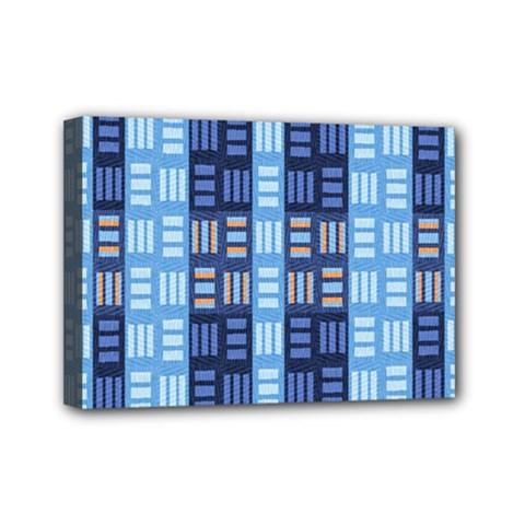 Textile Structure Texture Grid Mini Canvas 7  X 5  by Nexatart