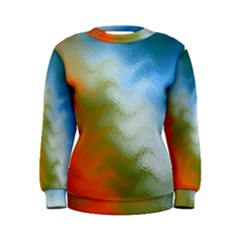 Texture Glass Colors Rainbow Women s Sweatshirt