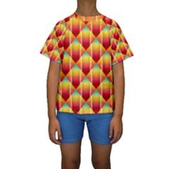 The Colors Of Summer Kids  Short Sleeve Swimwear by Nexatart