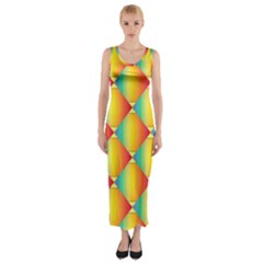 The Colors Of Summer Fitted Maxi Dress by Nexatart
