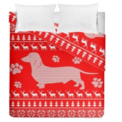 Ugly X Mas Design Duvet Cover Double Side (Queen Size) by Nexatart