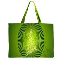 Vector Chirstmas Tree Design Large Tote Bag