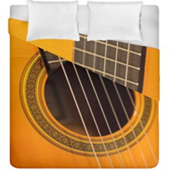 Vintage Guitar Acustic Duvet Cover Double Side (king Size) by Nexatart