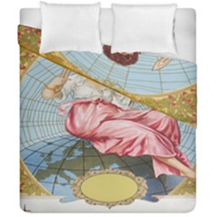 Vintage Art Collage Lady Fabrics Duvet Cover Double Side (california King Size) by Nexatart