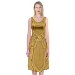 Vintage Scrapbook Old Ancient Midi Sleeveless Dress