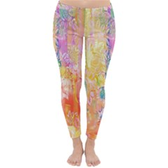 Watercolour Watercolor Paint Ink Classic Winter Leggings by Nexatart
