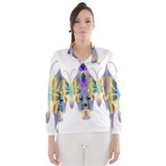 Abstract Animal Art Butterfly Wind Breaker (women)
