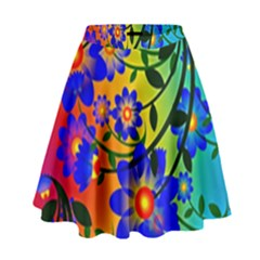 Abstract Background Backdrop Design High Waist Skirt