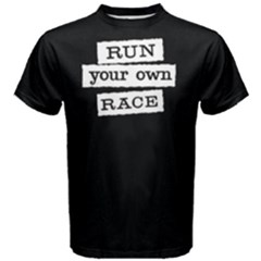 Run Your Own Face   Men s Cotton Tee by FunnySaying