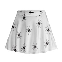 Animals Arachnophobia Seamless Mini Flare Skirt
