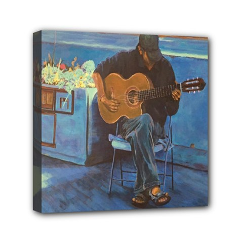 Man And His Guitar Mini Canvas 6  X 6  by theunrulyartist