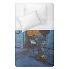 Man And His Guitar Duvet Cover (single Size) by theunrulyartist