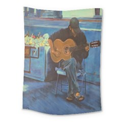 Man And His Guitar Medium Tapestry by theunrulyartist