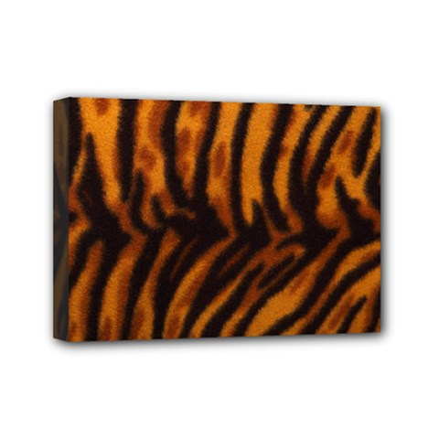 Animal Background Cat Cheetah Coat Mini Canvas 7  X 5  by Amaryn4rt