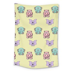 Animals Pastel Children Colorful Large Tapestry